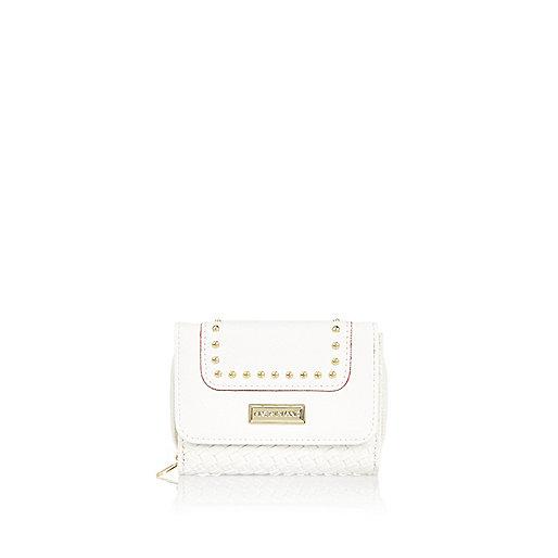 Girls white lattice purse