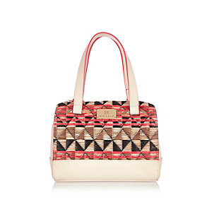 Girls coral bowler bag