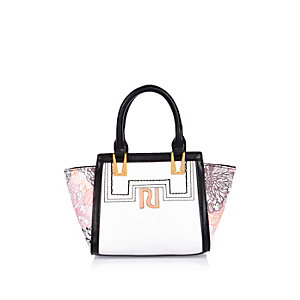 Girls white winged tote