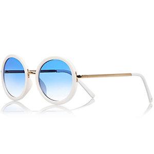 Girls white mirrored sunglasses