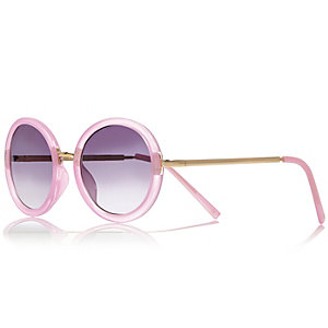Girls pink mirrored sunglasses