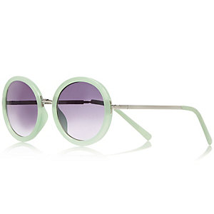 Girls mint green sunglasses