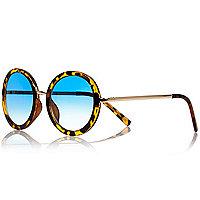 Girls brown tortoise print sunglasses