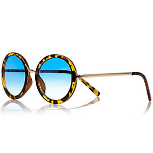Girls brown tortoise print sunglasses