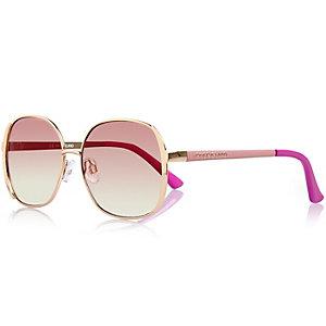 Girls pink oversized glam sunglasses