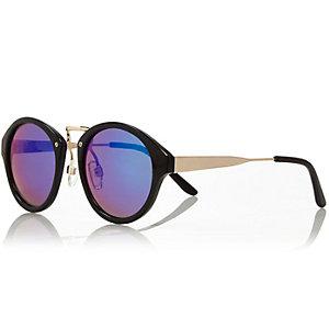 Girls black mirrored sunglasses