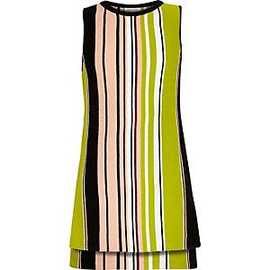 Girls black stripe tunic