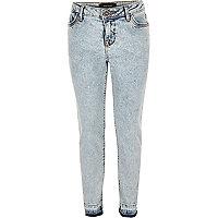 Girls light blue wash Amelie skinny jeans