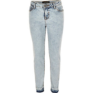 Girls light blue wash Amelie skinny jeans