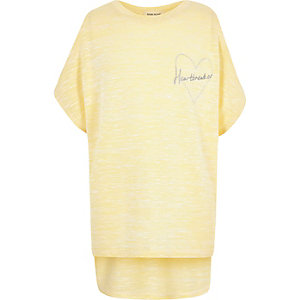 Girls yellow cold shoulder top