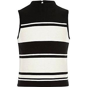 Girls cream stripe top