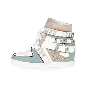Girls blue high top sneakers