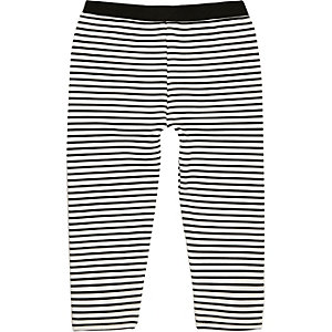 Mini girls stripe leggings