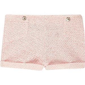 Mini girls pink detail shorts