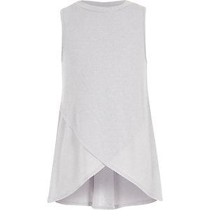 Girls grey cross-over tunic