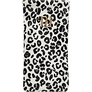 Girls black animal print sunglasses case