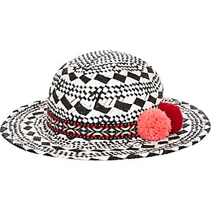 Mini girls black floppy hat