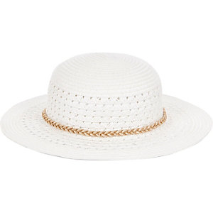 Chapeau mou blanc mini fille