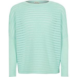 Girls light green slouchy top