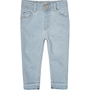 Mini girls light blue wash skinny jeans