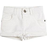 Weiße Jeansshorts