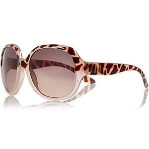 Mini girl pink tortoise shell glam sunglasses
