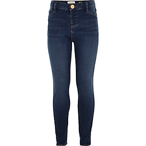 Girls mid blue wash Molly jeggings