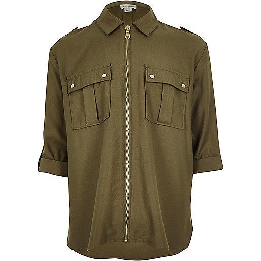 Camouflage-Hemd mit Reißverschluss