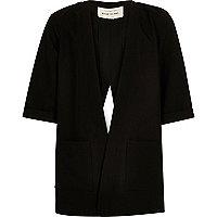 Girls black split back jacket