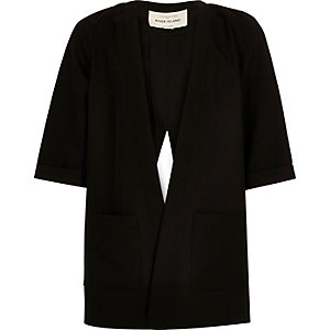 Girls black split back jacket