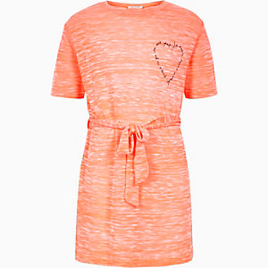 Girls orange tied tunic