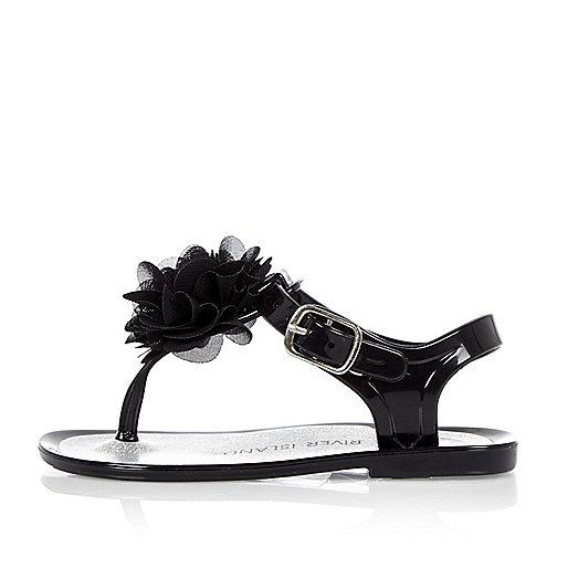 Sandales en plastique noires pour mini fille
