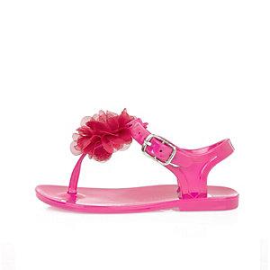 Sandales en plastique roses mini fille