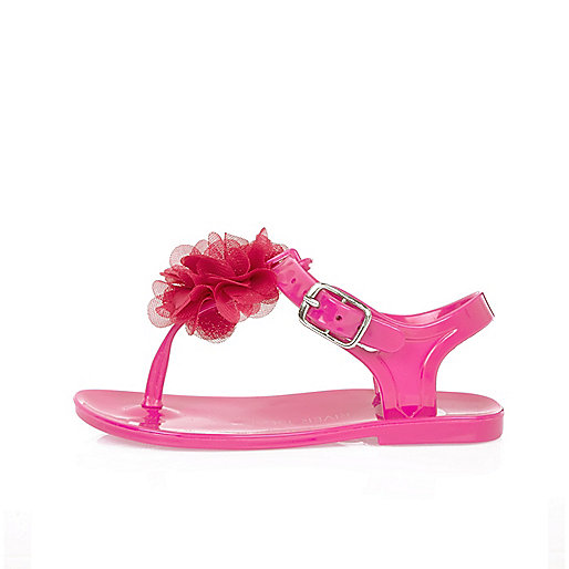 Mini girls pink jelly sandals