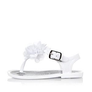 Sandales en plastique blanches pour mini fille