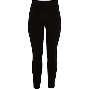 Girls black check shirt leggings set