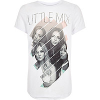 Girls white Little Mix Scoop Hem
