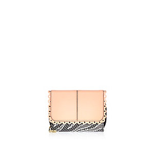 Girls coral trifold purse