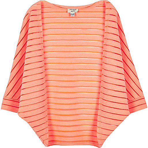 Cardigan corail coupe cocon mini fille