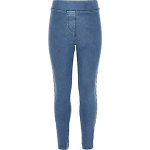 Hellblaue Leggings in Jeansoptik für Mädchen