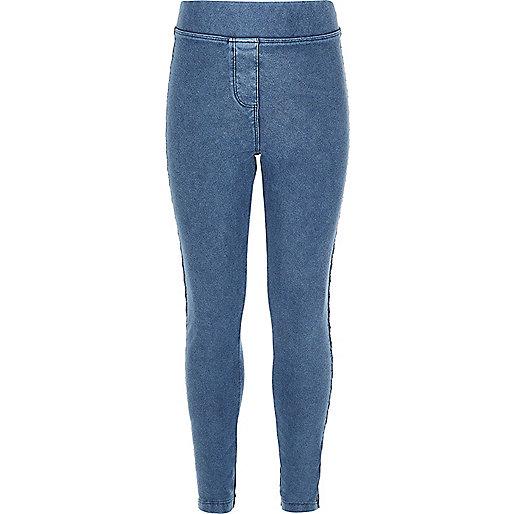 Legging imitation jean bleu clair pour fille