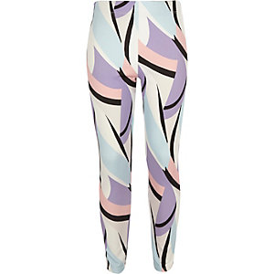 Girls pastel print leggings