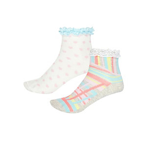 Girls cream pastel socks