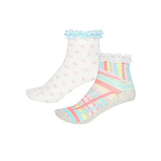 Girls cream pastel socks