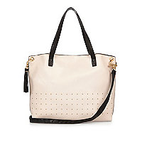 Girls light pink shopper