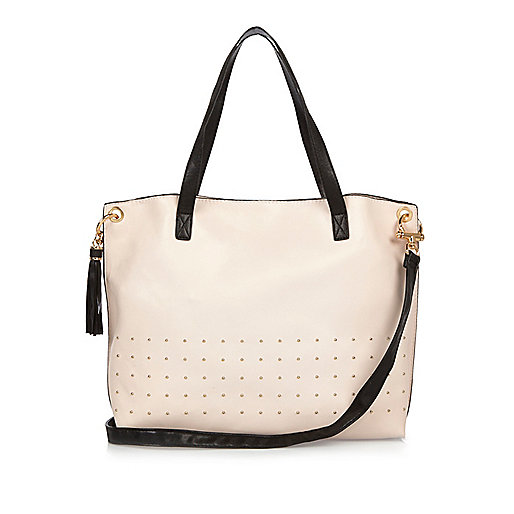 Girls light pink shopper bag