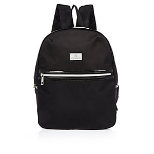 Girls black and white backpack