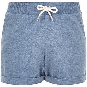 Girls blue jersey shorts