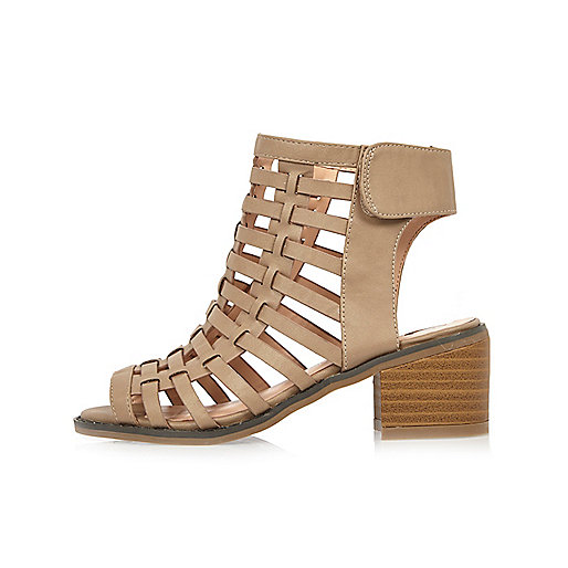Sandales chair effet cage à talons fille