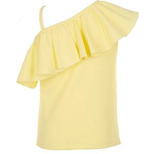 Girls yellow one shoulder top